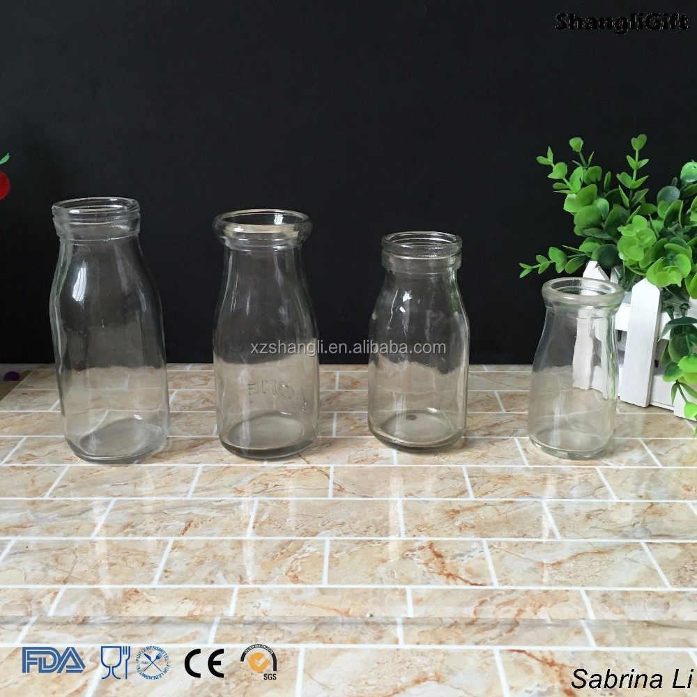 200ml 100ml pudding glass bottle with plastic or wood lid