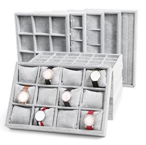 Jewelry Tray Storage Box Watch Holder Necklace Ring Earrings Pendant Display Organizer