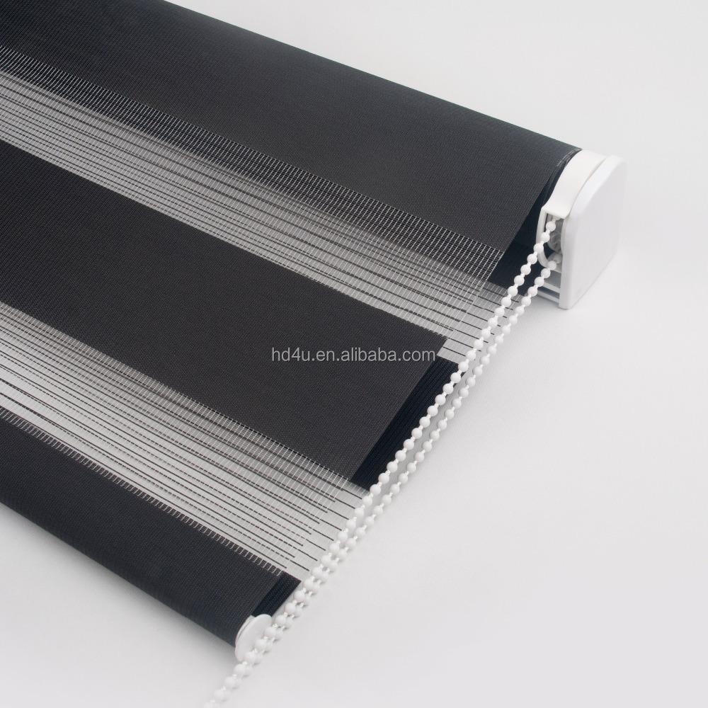 kundengebundene gr e 38mm daynight stoff alu rohr schwere schwarze zebra jalousien f r gro e. Black Bedroom Furniture Sets. Home Design Ideas