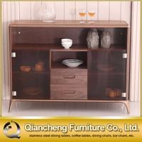 New Design Glass Door Wood Kitchen Cabinet Design
