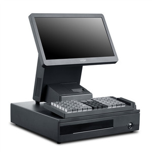 VTOP POS 66 Keys Programmable Keyboard POS System pos terminal with Built-in RFID reader and cash drawer