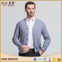 Hand Knitted Woolen Block Colour Design Bulk Blank V Neck Sweaters For Men