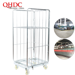 logistics equipment warehouse roll cage trolleys for storage and transport