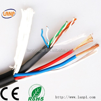 4 Pair Lan Cable 2 Power Cable Ip Camera Cable Buy
