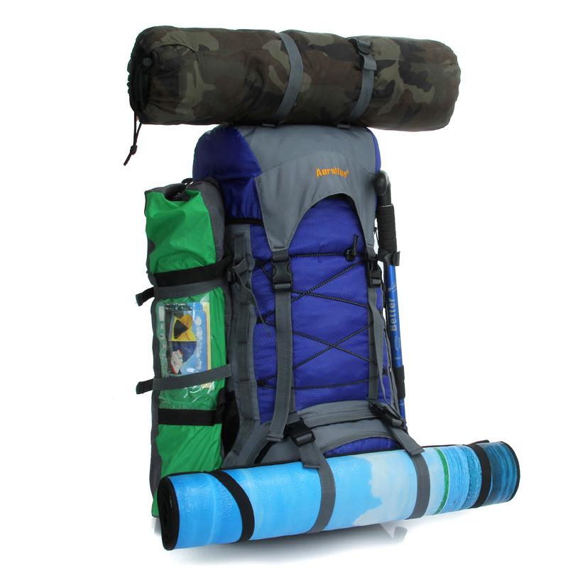 5bb0f41dcf Get Quotations · Happyshopping 60L waterproof women men travel backpack  outdoor camping mochilas climbing hiking backpack bagpack sport back bag