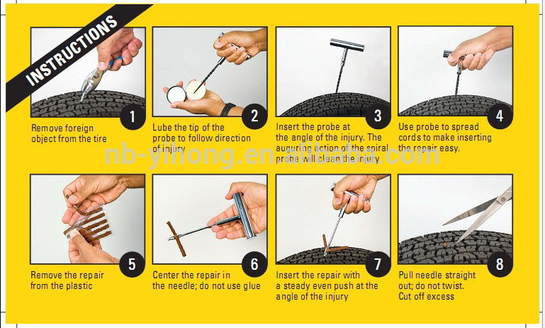Car Tire Repair Kit Instructions