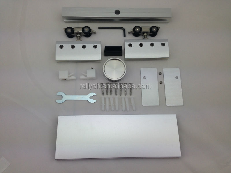 Modern Aluminum Alloy Sliding Barn Door Hardware For Glass Door