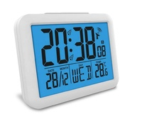 Bosheng Radio Controlled Digital Alarm Clock Lcd Clock Item GH7002R