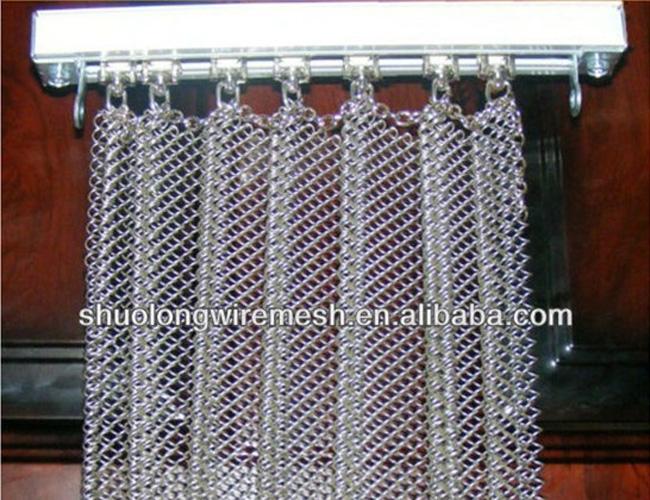 Decorative Architectural Chain Link Curtain Mesh Metal