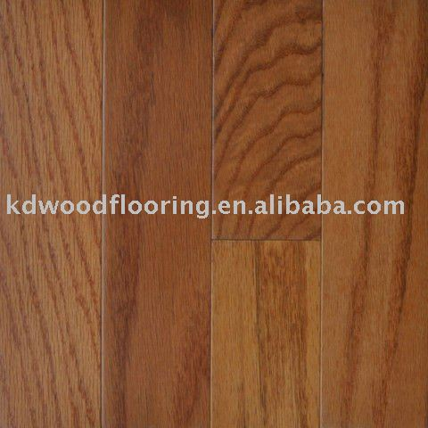 Red oak American style flat Engineered flooring classic color