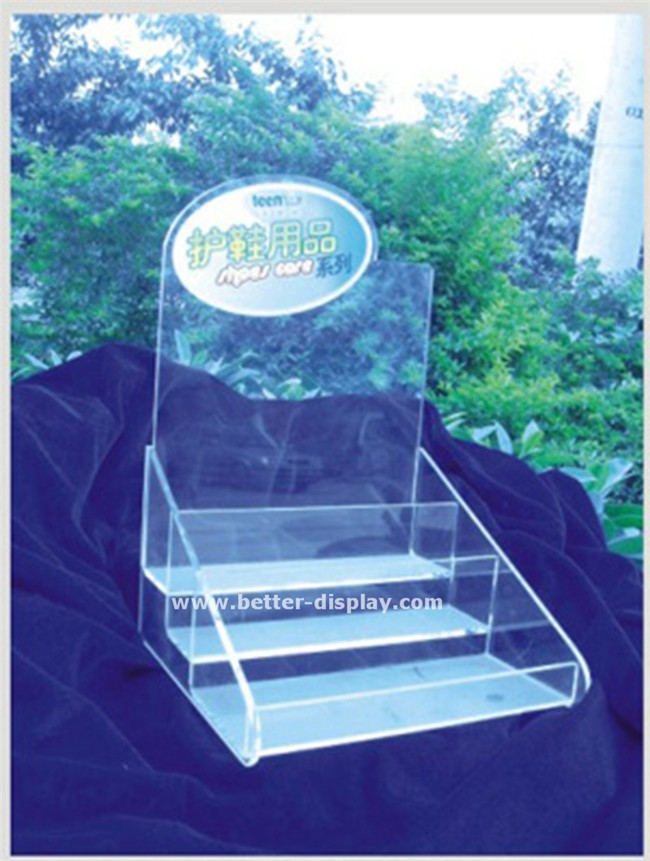 custom acrylic retail shoe display stands