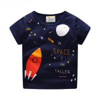 Kids Korean Designer Cotton Printed Fabrics Blank Plane Under Amour Wonder Sequins Baby Boy Tshirt
