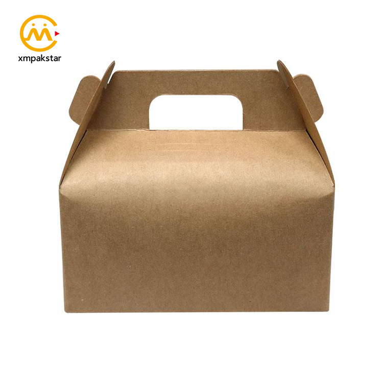China factory custom print different kinds Kraft paper cake bakery boxes