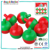 Christmas promotional pine-nuts shaped mini spin top spinning top toy