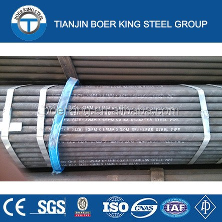 Building materials GB3087 grade 20 seamless steel pipe black painted
