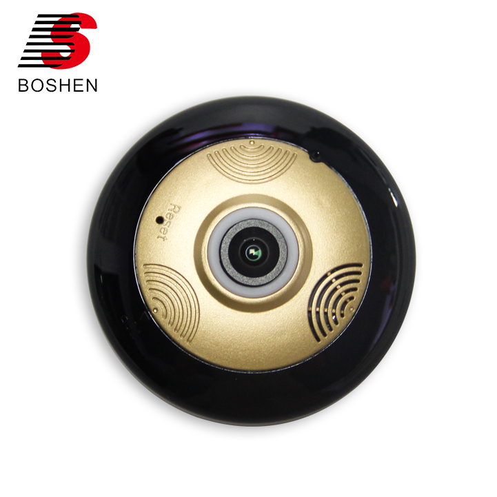 2017 New Fashion Golden 3D VR glasses View 360 degree VR Wifi Wireless CCTV Camera