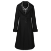 wholesale gothic punk steampunk style wool blend long design mens winter coat black