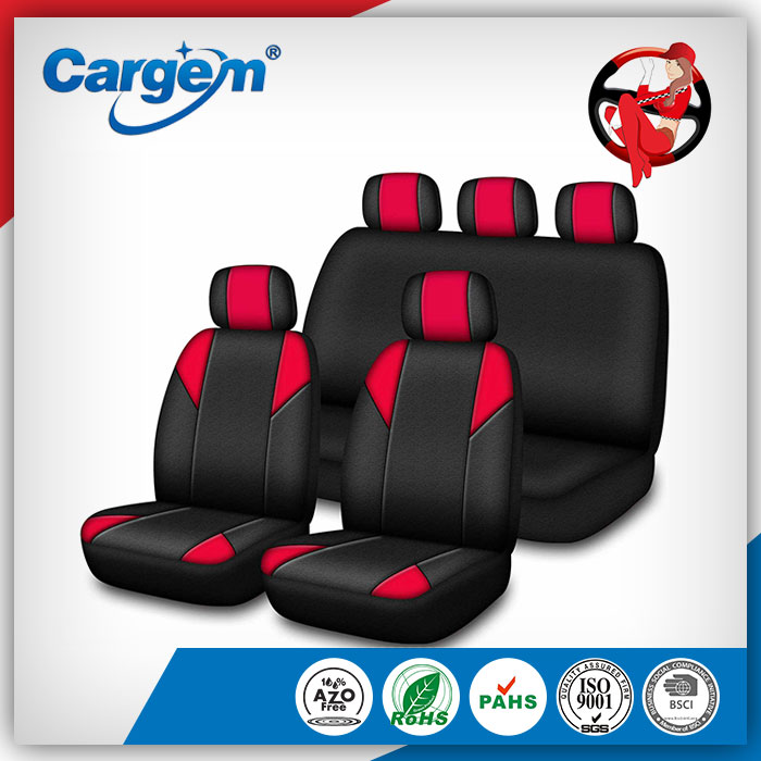 Fast delivery cheap car seat cover with zippers on rears