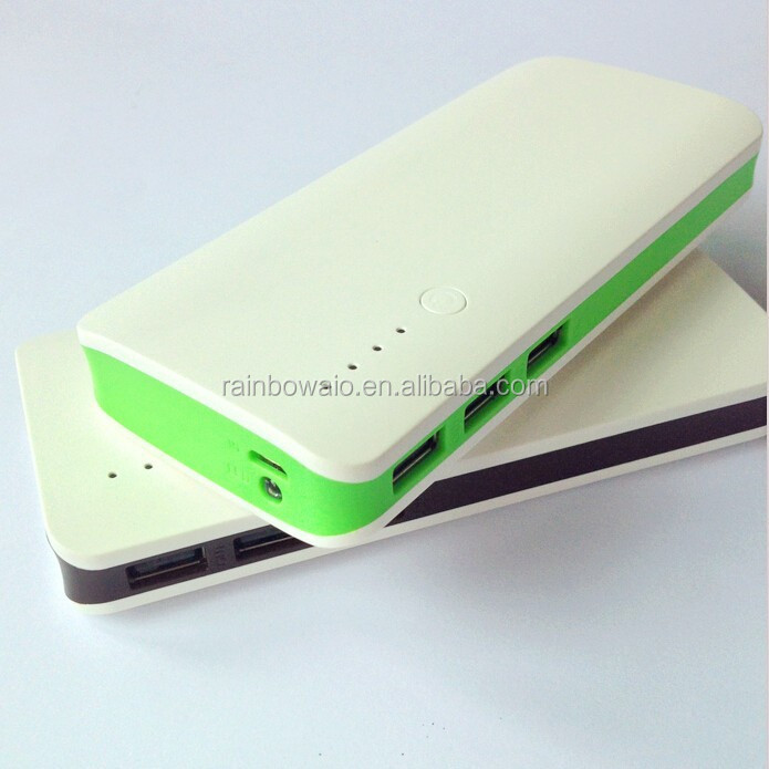 factory prcie wholesale external battery charge 10400mah powerbanks with Led light for samsung smartphone