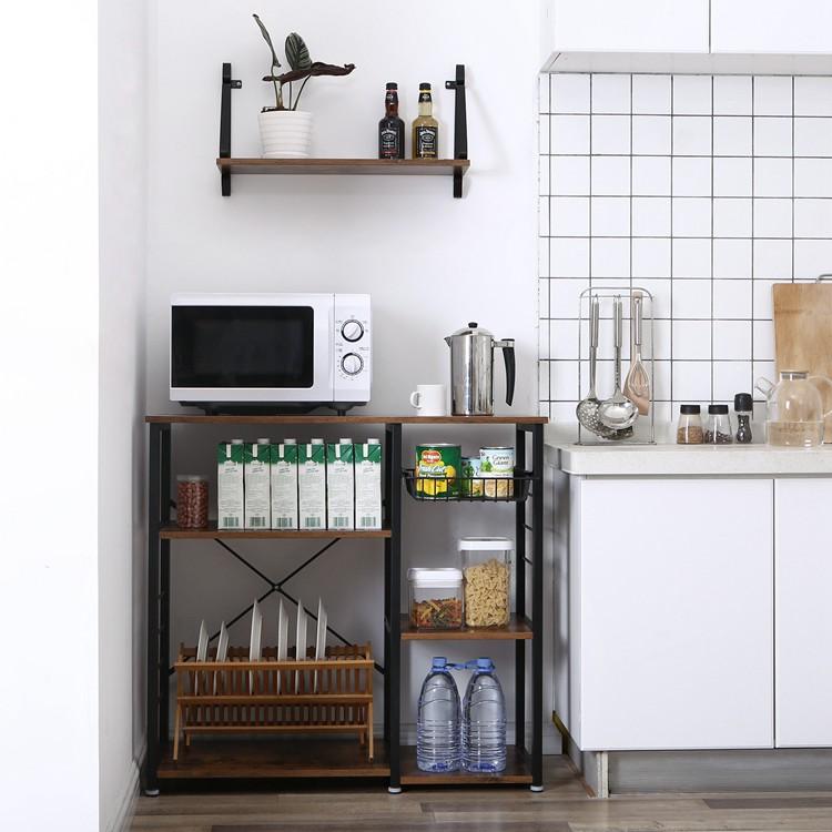 VASAGLE kitchen cabinet shelf cupboard organizer rack,wooden ...