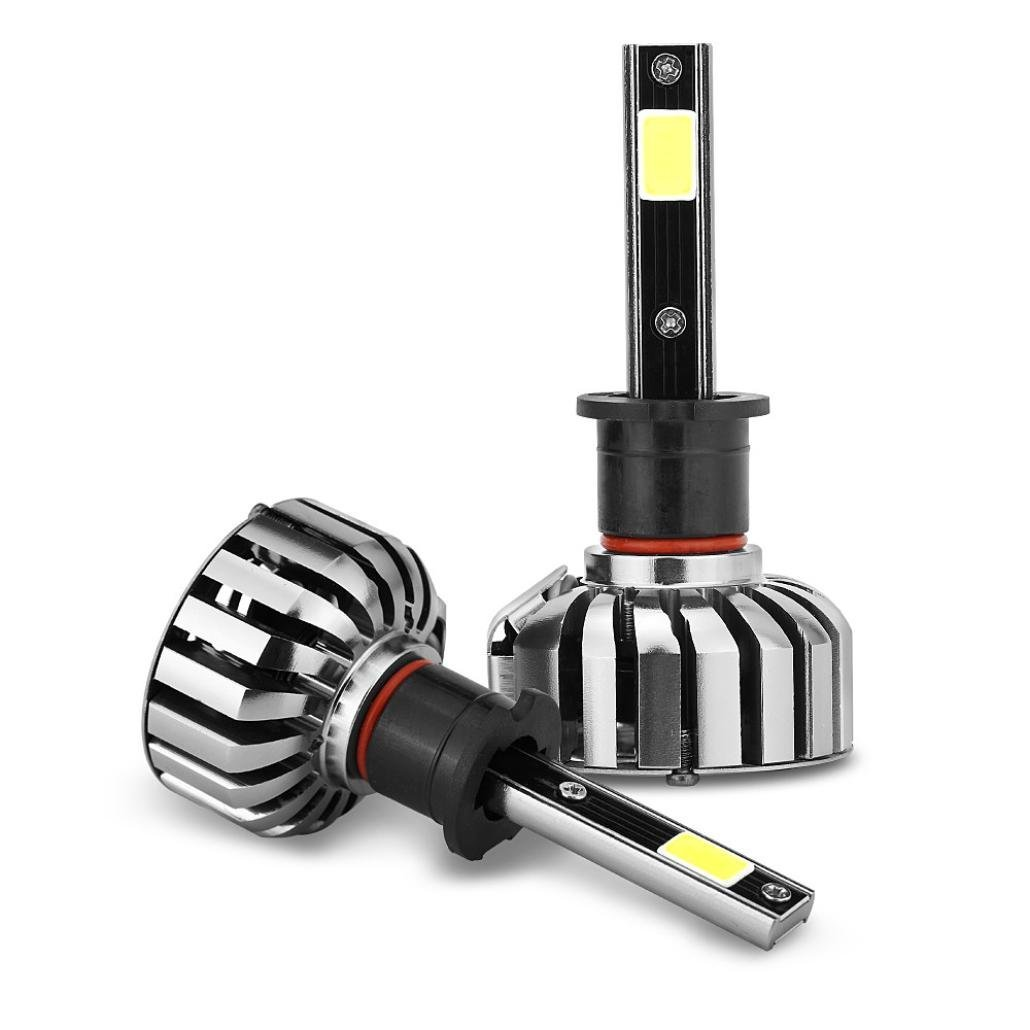 N7 Car Head Bulbs,EOLGOOG H3 HB2 80W 8000LM COB LED Headlight Kit Hi/Lo Beam Bulbs 6000K