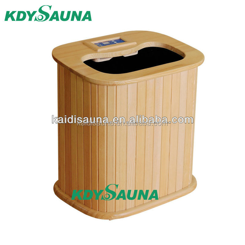 2017 Updated Wooden Steam Foot Sauna With Digital Control Panel