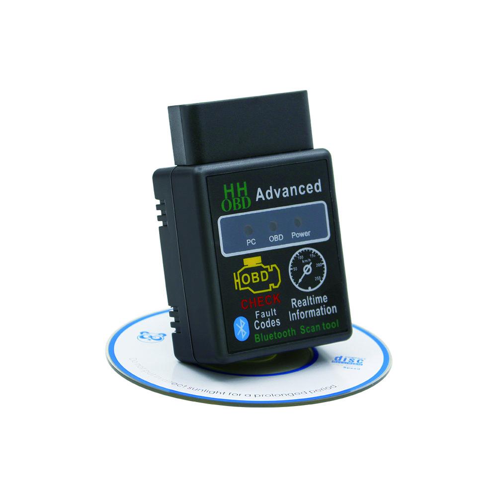 자동차 진단 스캐너 V2.1 OBD2 HH OBD ELM327 작동 안드로이드 토크 블루투스 ELM327 HH OBD 인터페이스 ELM 327