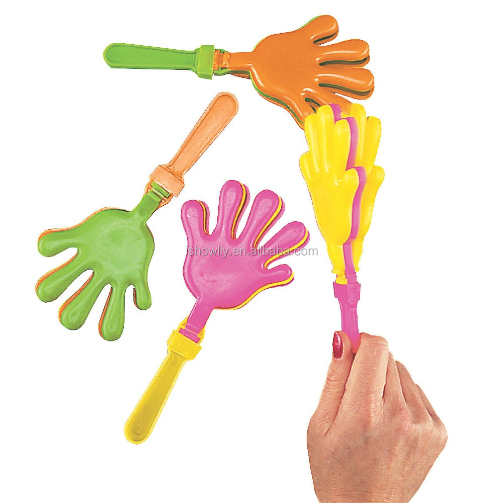 7.5 Inch Fashion Hot Selling Custom Cheap Promotional Plastic Colorful Hand Clapper Noise Maker Price starting at USD 0.098 Each