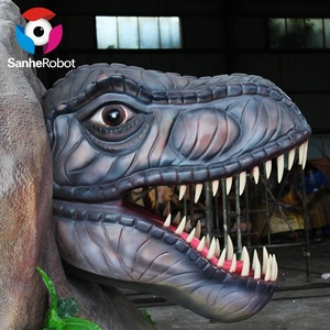 Expo Life Size Fiberglass Carnotaurus silicon dinosaur with hard head