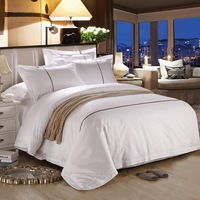 Luxury Bedding Set Cotton Hotel bedding set linen Bed sheet Set Satin Fabric