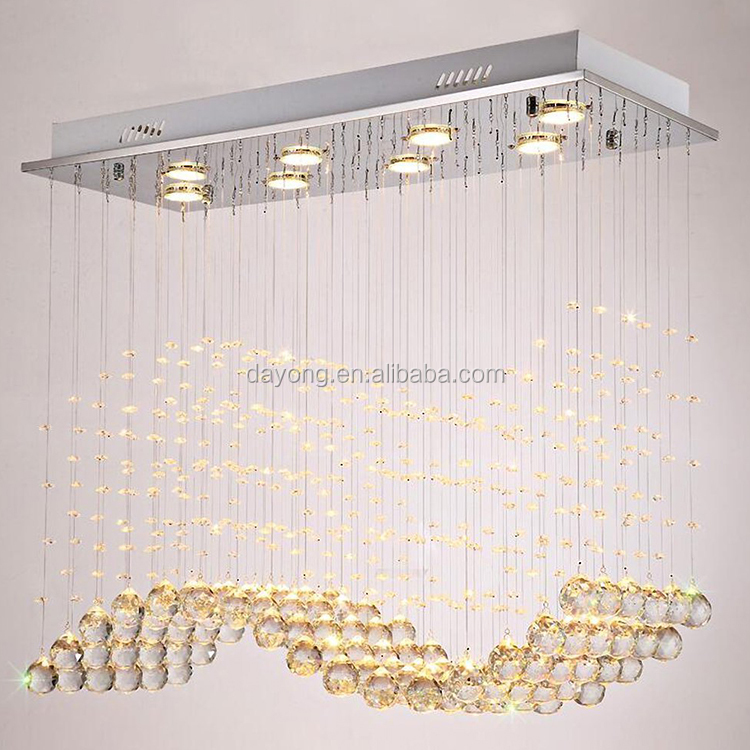Modern Simple Crystal Chandelier For Dining Room
