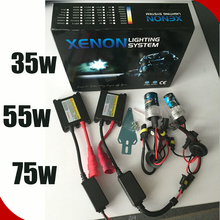 Guangzhou car accessory all color 35/55w HID headlight xenon conversion kit H4-1 H4-2 H4-3 H7 H13 9005 9006 red hid lights