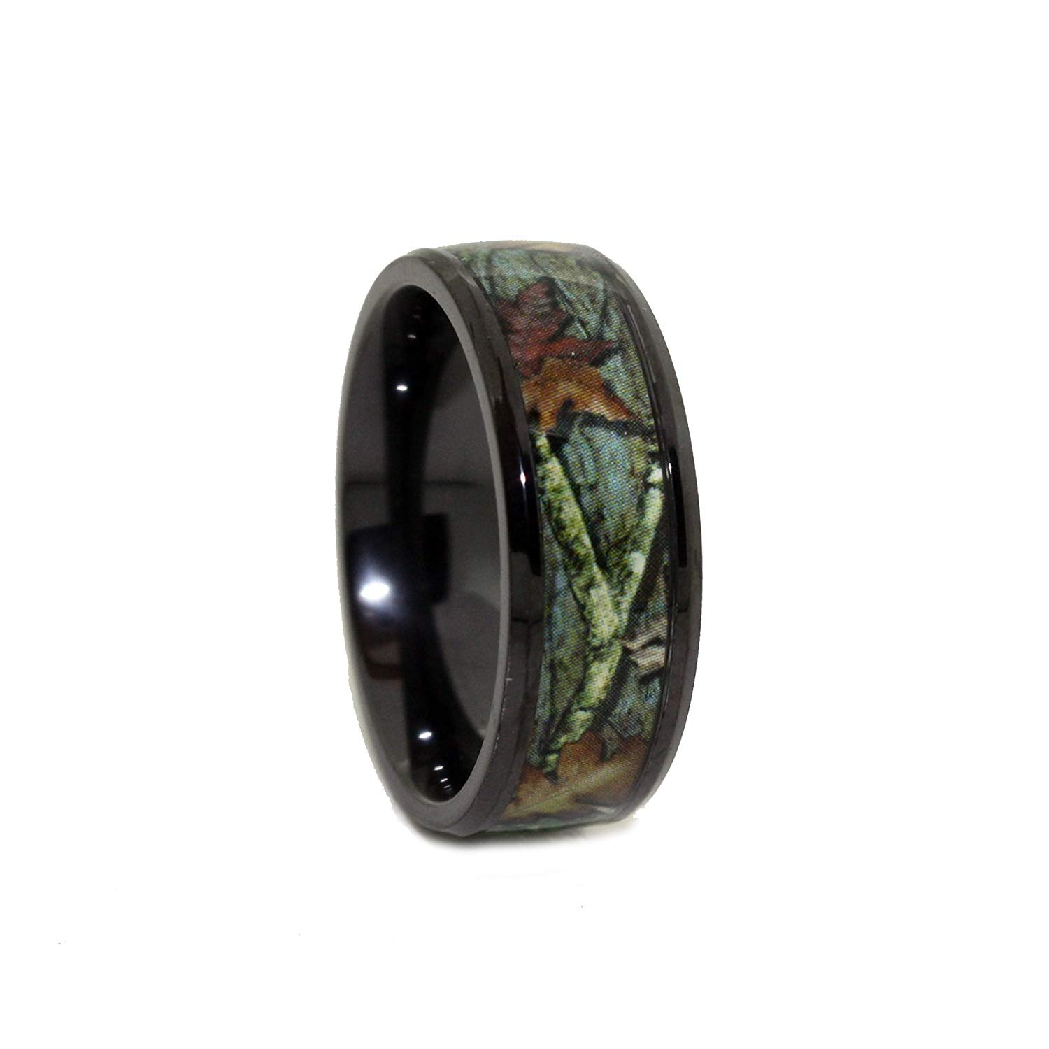 Get Quotations Black Camo Wedding Rings By 1 Engagement Ring Anium