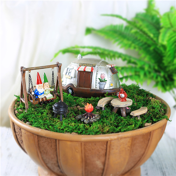 Ordinaire New Resin Miniature Fairy Garden Accessories Set