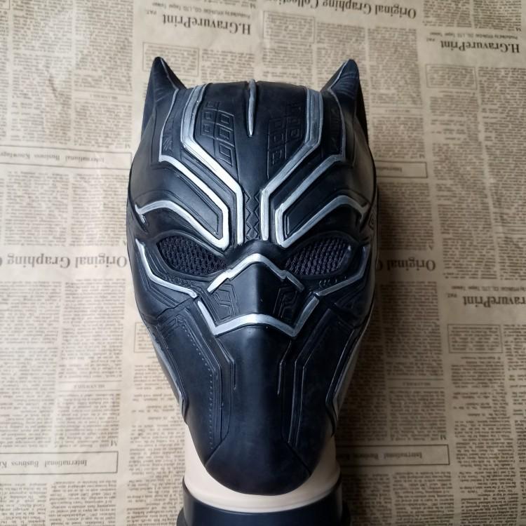 2018 New Cos Civil War Black Panther Soft Latex Mask Black Panther