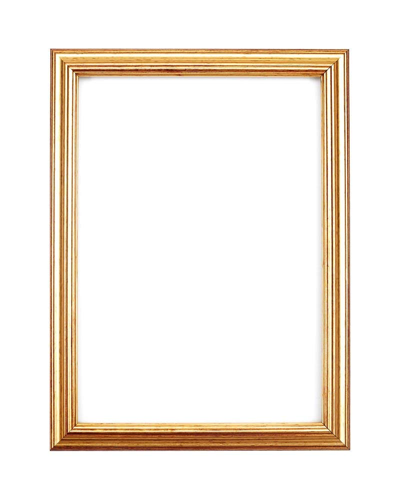 """Paintings Frames Elegant Picture Frame/Photo Frame/Poster Frame With An MDF Backing BoardReady To Hang Or Stand With Styrene Shatterproof Perspex Sheet 16-12 16""""X12"""" Gold Leaf"""