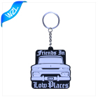 High quality custom made stereo pvc keychain 2d 3d rubber printed pvc keychain,pvc patch with hook and loop