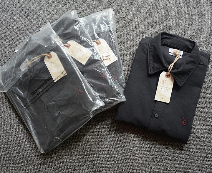 Черный цвет марка с 4 размер S-XL все святые мужчины оксфорд хлопок рубашку с длинными рукавами тонкий толстый раздел бесплатная доставка