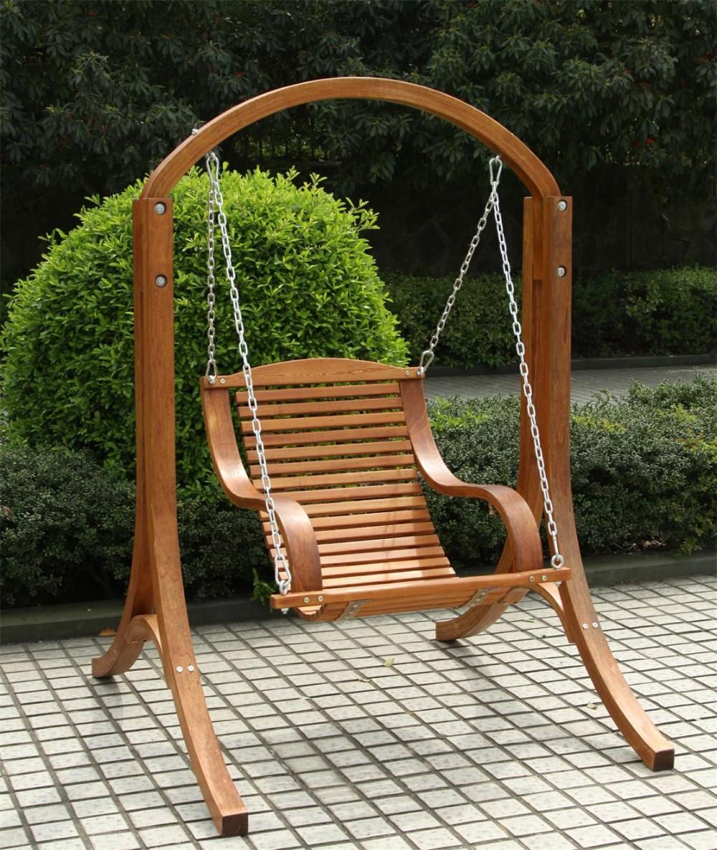 Al Aire Libre De Dos Plazas De Madera Jardín Swing Para Adultos ...