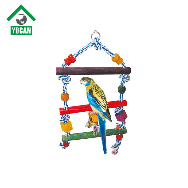 pet product natural parrot bird toys wooden perch stand