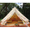 5M Glamping Resort Durable Waterproof Cotton Canvas Bell Tent with fire mildew resistant