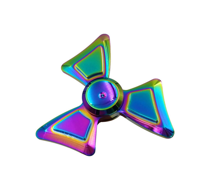2017 New Threeleaf Colorful Magic Leaves Clovers Aluminum Alloy Fingertip Gyro Hand Spinner Metal Fidget EDC Anti-stress Toy