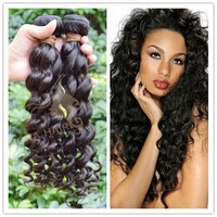 Deep wave dark colors 100% indian remy hair 100g virgin hair extension
