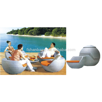 Egg Shaped Outdoor Furniture Rattan Chair