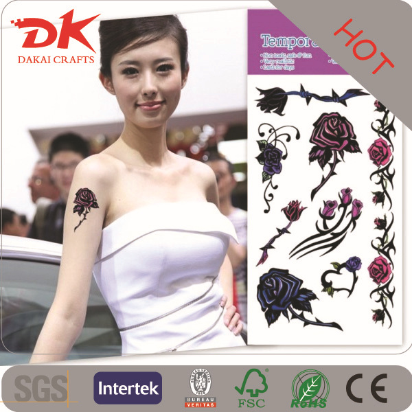 body art bracelet and necklace metallic tattoo sticker