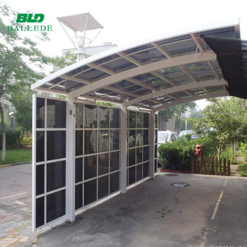 Curved Roof Aluminum Carport Polycarbonate Cantilever Carport With