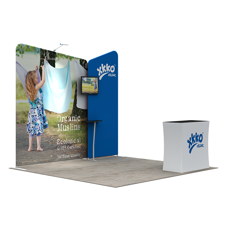 Exhibition Booth Backdrop : Trade show portable 6x3 exhibition booth display backdrop stand