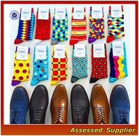 High Quality Custom Colorful Combed Cotton Men's Dress Business Socks,OEM Business Happy Men Socks SH1000