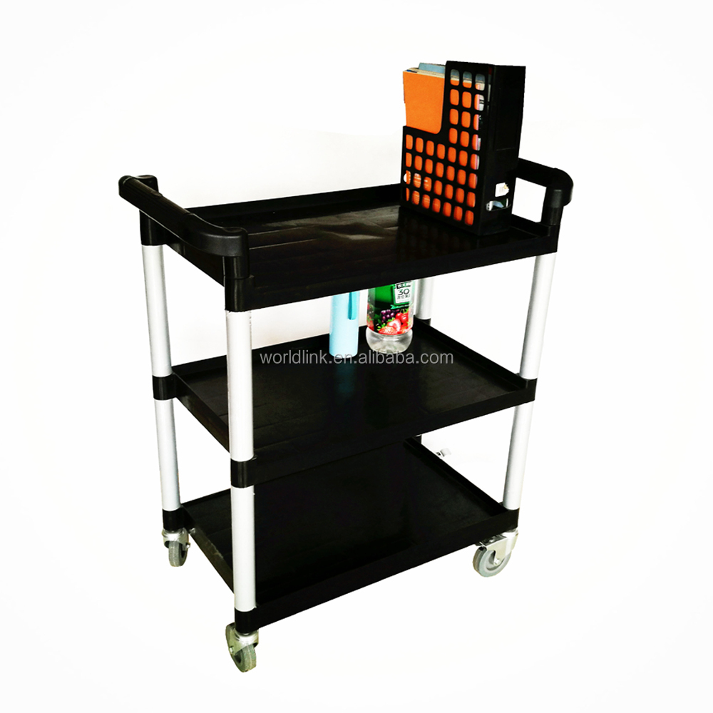 Plastic Housekeeping Room Moving Service Cleaning Cart