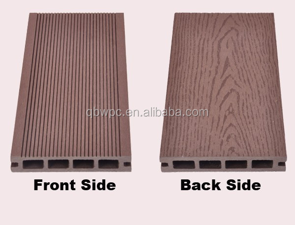 High strength and density HDPE outdoor Wpc decking floor with top standard